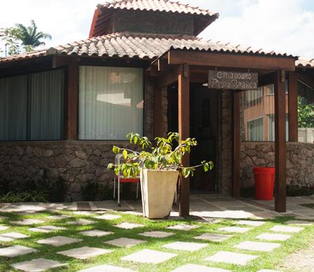 Parte da frente de uma casa com plantas