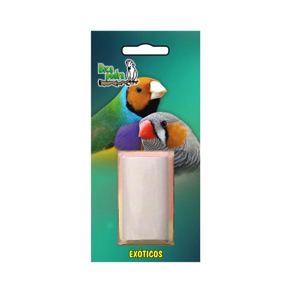 Brinquedo em formato de pedra para os pássaros brincarem